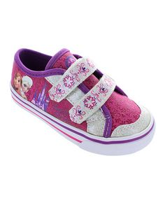 Another great find on #zulily! Fuchsia & Silver Frozen Sneaker #zulilyfinds