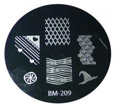 Bundle Monster Image Plate #BM-209: Lattice,Full Nail Witch (Ships Free, No Min), Free Shipping at Nail Polish Canada