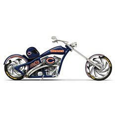 Chicago Bears Motorcycle Figurine Collection Limited editions, officially-licensed by the NFL. First-ever Chicago Bears chopper figurine collection with custom paint schemes, team logos and more. Measure approximately L Redskins Football, Redskins Fans, Bears Football, Nfl Chicago Bears, Bears Packers, Football Gear, Football Baby, Custom Choppers, Custom Motorcycles