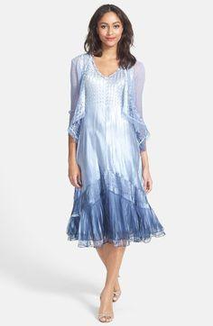 Komarov Mixed Media A-Line Dress & Jacket (Regular & Petite) available at #Nordstrom