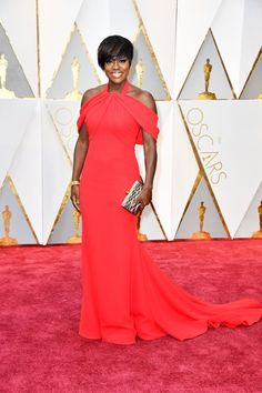 The 2017 Oscars The queen has arrived; Viola Slayvis will see you now. The Fences actress just shut it down in this red custom Armani Prive gown that, really, could work for any awards show. That, plus the tailoring on this drop-sleeve dress makes Davis a winner in our book.refinery29