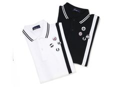 Fred Perry mod shirts with mod pins to match... Remember when I'd wear these shirts every day to school?