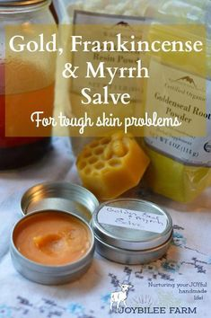 DIY Masque : Description Gold, Frankincense, and Myrrh Salve for your DiY Apothecary Herbal Remedies, Home Remedies, Natural Remedies, Health Remedies, Natural Treatments, Healing Herbs, Natural Healing, Holistic Healing, Natural Oil