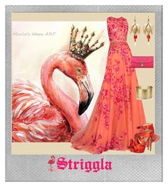 """""""Flamingos"""" by striggla ❤ liked on Polyvore featuring Polaroid, Dolce&Gabbana, Zuhair Murad, Annette Ferdinandsen, Blue Nile, coral, polyvoreeditorial and flamingos"""