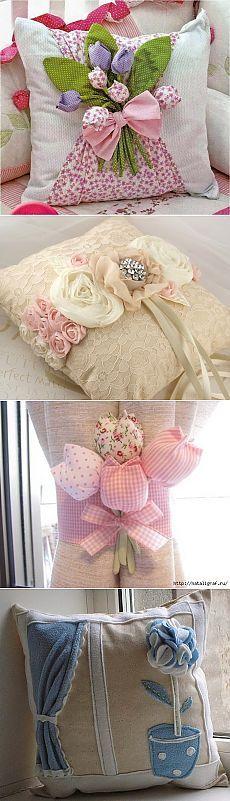 Немного красоты для интерьера: декоративные подушки Cute Pillows, Diy Pillows, Sofa Pillows, Decorative Pillows, Throw Pillows, Floor Cushions, Pin Cushions, Sewing Crafts, Sewing Projects