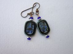 Check out this item in my Etsy shop https://www.etsy.com/listing/269803034/rustic-roman-tablet-earrings-cobalt