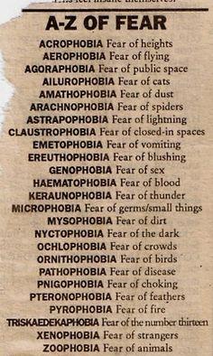 A-Z of Fear // Mythology of Blue: Archive