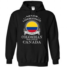 Awesome Colombia - Canada - #gift ideas for him #gift sorprise. BUY TODAY AND SAVE => https://www.sunfrog.com/States/Awesome-Colombia--Canada-8222-Black-Hoodie.html?68278