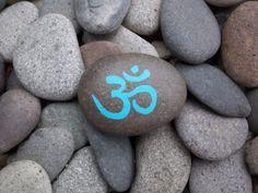 Piedra de la roca de Om azul Nota tarjeta de por InnerSasa en Etsy