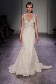LAZARO 2016...Beautiful, imagine this in silver, gold. Let the dress color fit the wedding theme. Ask for fabric suggestions.