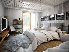 Project interiors of the private house by Galina Lavrishcheva - combination of styles - rustic and modern (8)