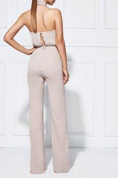 ABRIANNA WIDELEG PANTSUIT MOUSSE - Pantsuits - Shop