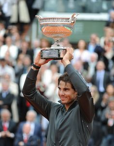 Rafa had enough energy left to lift his 7th Roland Garros title. www.babolat.com