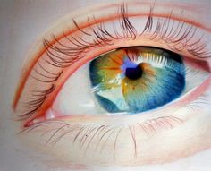 Ummar Fadil - Drawing eyes are always fun.! using cretacolor karmina pencils,