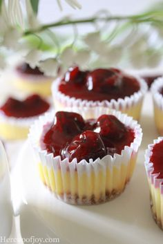 Mini Cherry Cheesecakes - Her Cup of Joy (25 of 38)