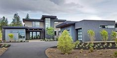 Plan 54223HU: Modern House Plan With 2 Master Suites