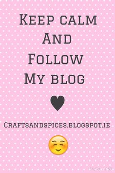 A blog about Slimming World recipes, craft projects and tutorials, and beauty product reviews. www.craftsandspices.blogspot.ie