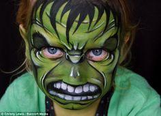 Incredible Hulk Hulk face paint