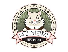 The MOST ADORABLE amazing logo I've seen in a long while... I love this so much it brought a tear to my eye!! HJ Mews | Jessica Hische