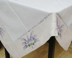 15% De descuento, lavanda bordado a mano vainicas Drawnwork Tablelinen