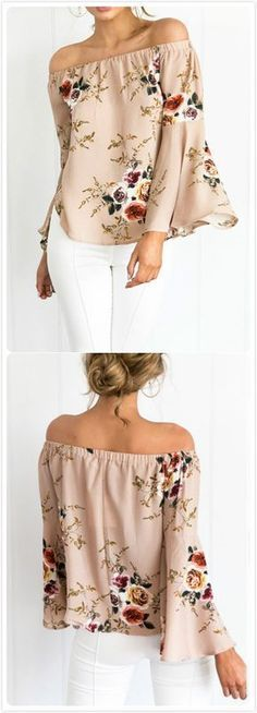 2c0e4478a4b1f8 Proyecto blusa Décontracté Chic, Mantel, Shoulder Tops, Off Shoulder Bluse,  Off The