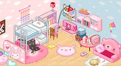 kawaii living room - Google Search