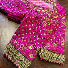Cutwork Blouse Designs, Saree Blouse Neck Designs, Bridal Blouse Designs, Hand Work Blouse Design, Stylish Blouse Design, Embroidery Designs, Aari Embroidery, Maggam Works, Hand Designs