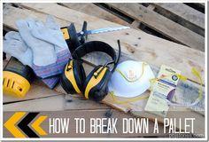 easy way to break down a pallet