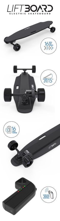 Calling all speed demons - this electric skateboard has your name written all over it!  LiftBoard's single motor board flies at speeds of up to 16 mph and acceleration that will metaphorically melt the pavement.  Whatever your speed, check out all the awesome features of our electric skateboards!