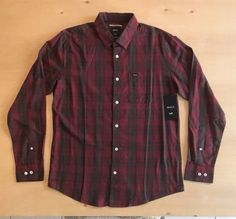 RVCA Men's Long Sleeve Button Up Shirt NWT  | eBay Button Up Shirts, Men Casual, Plaid, Buttons, Long Sleeve, Sleeves, Mens Tops, Ebay, Women