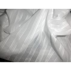 "white cotton voile 58"" wide / jacquard stripes"