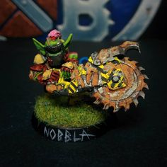Nobbla Blackwart starplayer Goblin Blood Bowl Team Games Workshop 2016 miniature converted