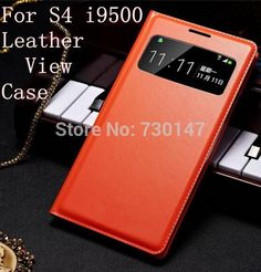 View Window Flip Cover Leather Cases Case For Samsung Galaxy S4 i9500 Dormancy Function Touch View Screen Power On/Off Display | Price: US $2.03 | http://www.bestali.com/goto/1581223133/10