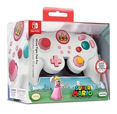 Nintendo Switch Super Mario Bros Princess Peach GameCube Style Wired Fight Pad Pro Controller by PDP, Nintendo Switch Super Mario, Nintendo Switch Games, Super Smash Bros, Super Mario Bros, Mario Brothers Games, Mario Party Games, Peach Mario, Nintendo Console, Gamecube Controller