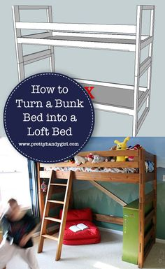 Woodworking Joinery Pictures See how Pretty Handy Girl turns her son's bunk bed into a loft bed in a few simple steps