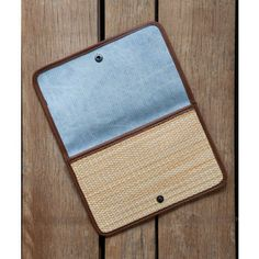 Montauk Clutch by Lyndsey Hamilton for Fleabags. A dash of interior denim, lovely stripe lining and the clean look of paper yarn basketweave combine to create the perfect clutch.