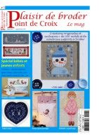 "Gallery.ru / tymannost - Альбом ""Plaisir de broder 7"" Cross Stitch Magazines, Cross Stitch Books, Magazine Cross, Embroidery Designs, Creations, Baseball Cards, Frame, French, Vintage"
