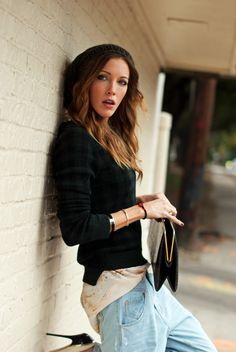 What Katie wore: Your boyfriend's jeans | Katie Cassidy Street Style