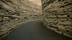 Brazilian artists Marcos Saboya and Gualter Pupo have created a maze out of 250,000 books as part of LOCOG's London 2012 Festival in the Southbank Centre in London.