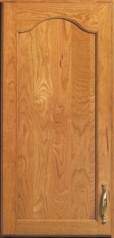 Door Styles: Cherry Birmingham Arch - Visit Showroom in Columbus Ohio - Kitchen Kraft Inc, Kitchen Cabinets Remodeling. - Door Style : Birmingham Arch  Door Type : Flat Panel  Finish : 350, Sunrise  Material : Cherry