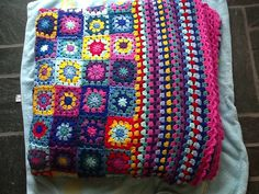 My very first granny square blanket