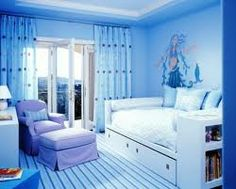 Blue room,cool wall art