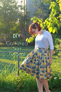 DIY Retro 50's-inspired Gathered Skirt Tutorial - No Pattern!