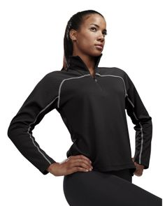 Women's Jaquard Uc 1/4 Zip Ls Knit Pullover Shirt (100% Polyester).  Tri mountain 636 #amusthave  #tough #workout