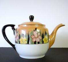 Vintage Rare Noritake Tea Pot Lusterware 1930 por oldandnew8, $37.00