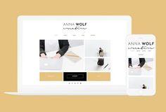 Anna Wolf - Wordpress Theme by Kelly Brito Studio on @creativemarket