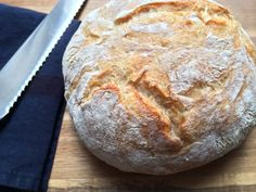 No knead bread made in the dutch oven.