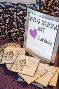 Give the guests a cd of the birthday girl or boy's favorite music #musicalbirthday #music #birthday