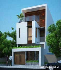 Hiện tại tôi đang muốn xây dựng một ngồi nhà 3 tầng trên diện tịch 4,8x16 m2. Với tầng 1: - có Gara, 1 phòng khách, 1 phòng ngủ, nhà vệ sinh, phòng bếp, cầu thang. Với tầng 2: - cần có 2 phòng ngủ nếu được, 1 nhà vệ sinh, khoảng không cầu thang. Với tầng 3: - 1 phòng thờ, phòng ngủ, sân phơi. Villa Design, Facade Design, Exterior Design, House Front Design, Modern House Design, Zen House, Casa Loft, Modern Townhouse, Narrow House