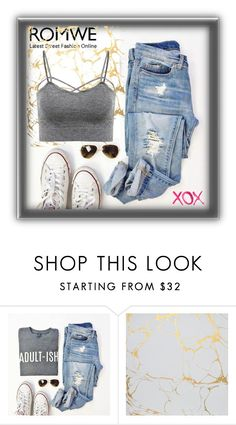 """""""Romwe"""" by ernaa0 ❤ liked on Polyvore featuring GALA"""
